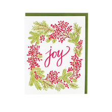 Joy Berry Wreath Card