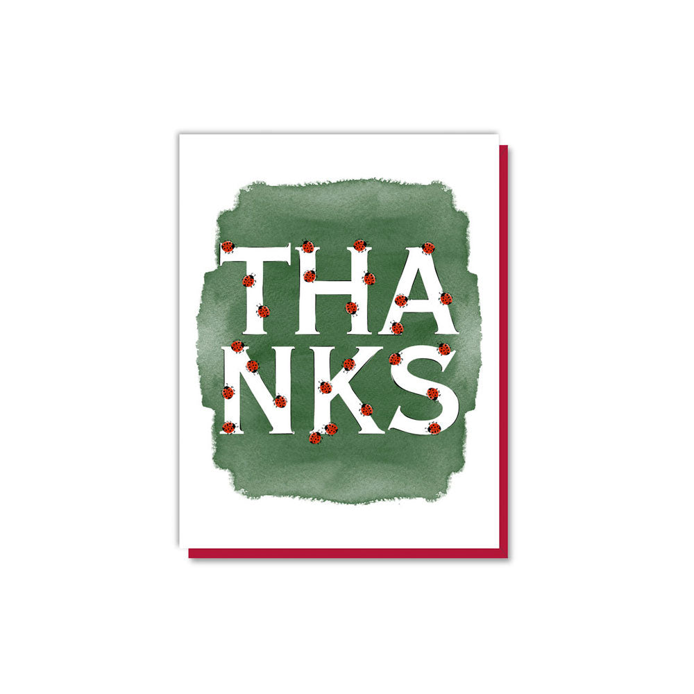 Thanks Ladybug Letters Card Driscoll Design - Foursided