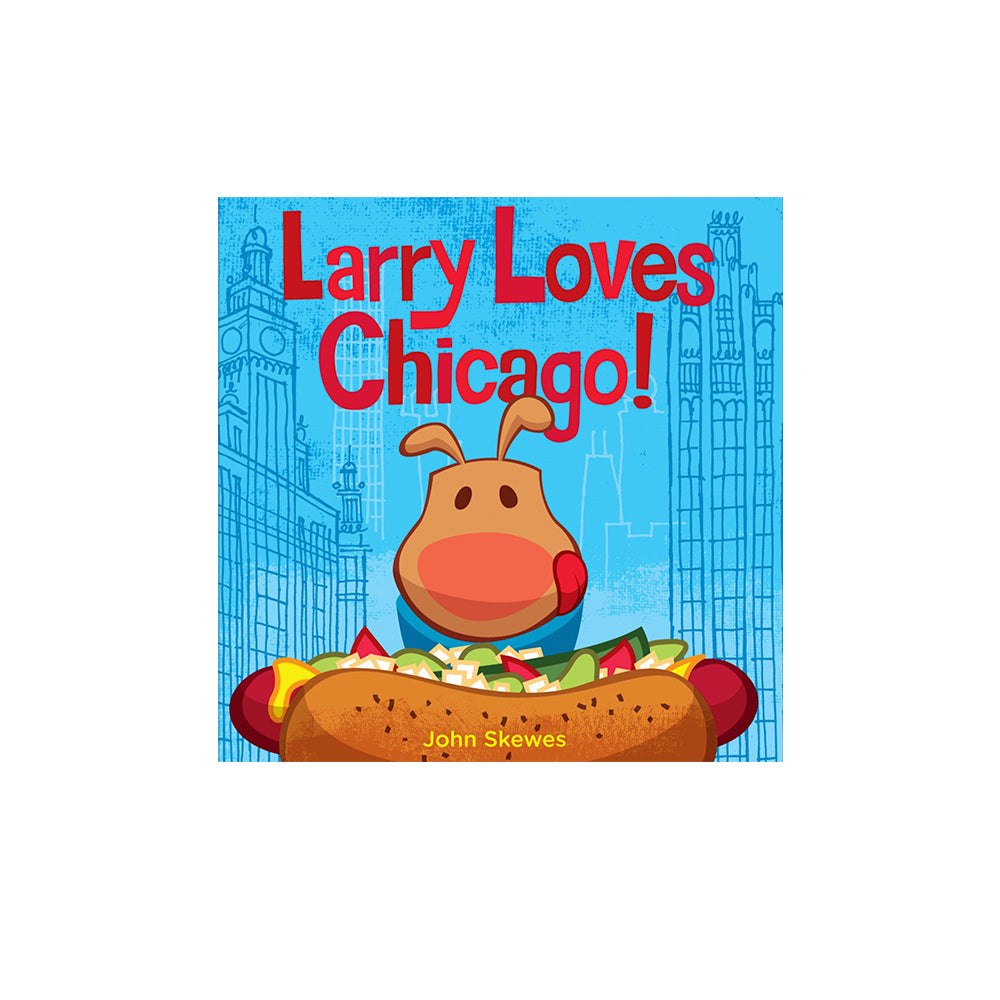 Larry Loves Chicago! Board Book Penguin - Foursided