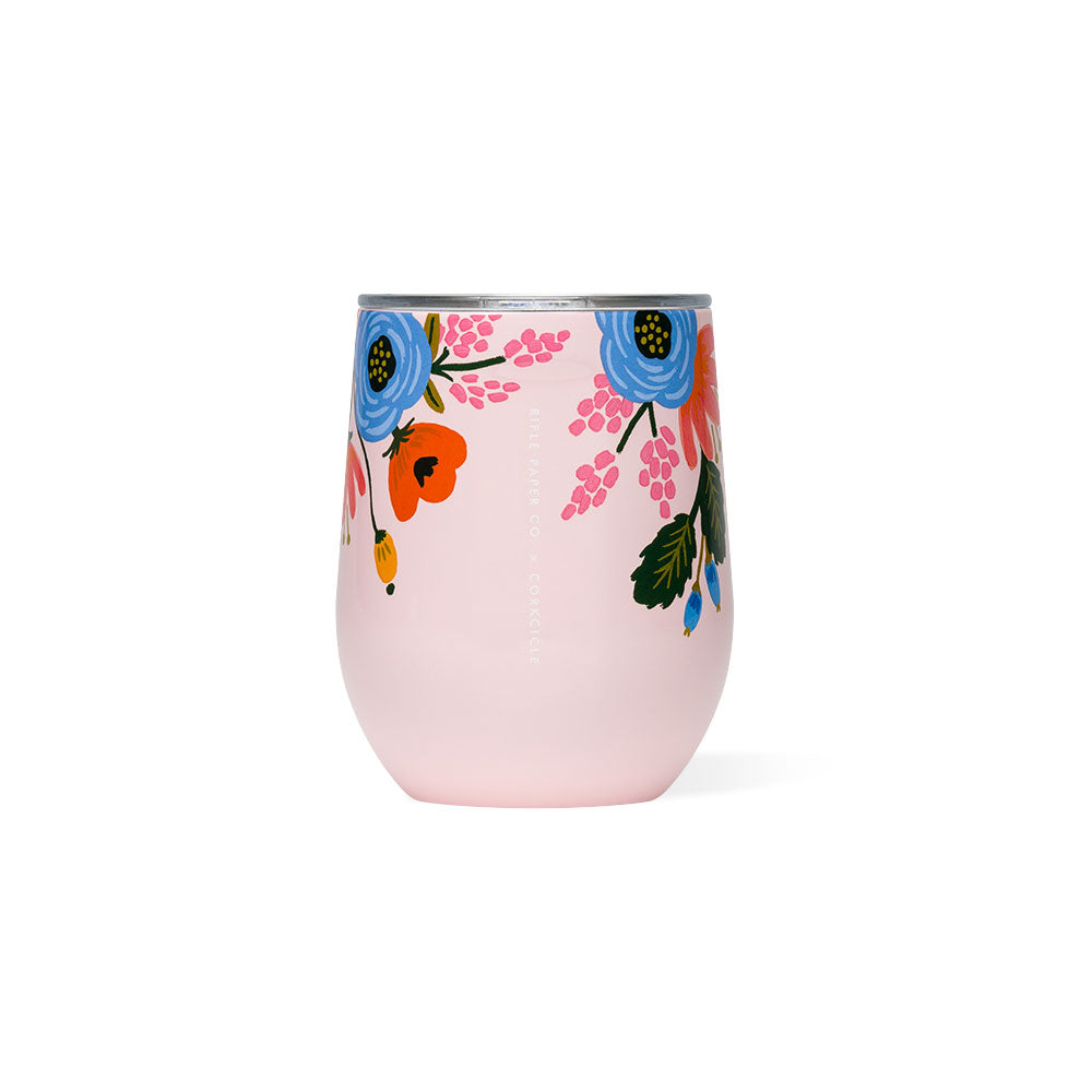 Lively Floral Stemless Wine Cup (multiple colors) Corkcicle - Foursided