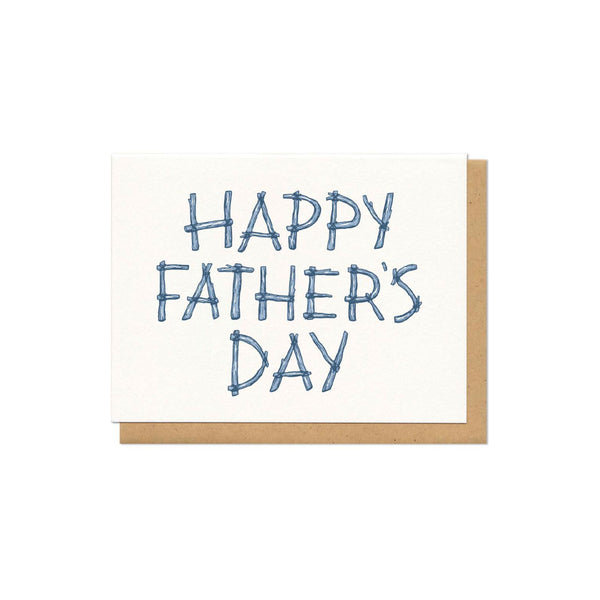 Happy Father's Day Logs Card