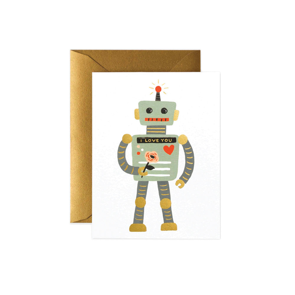 Love Robot Card Rifle Paper Co. - Foursided