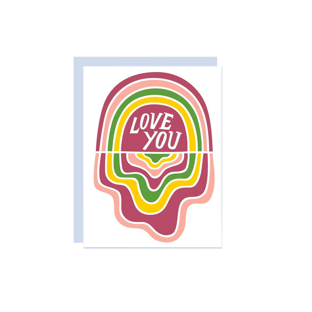 Love You Rainbow Card The Good Twin - Foursided