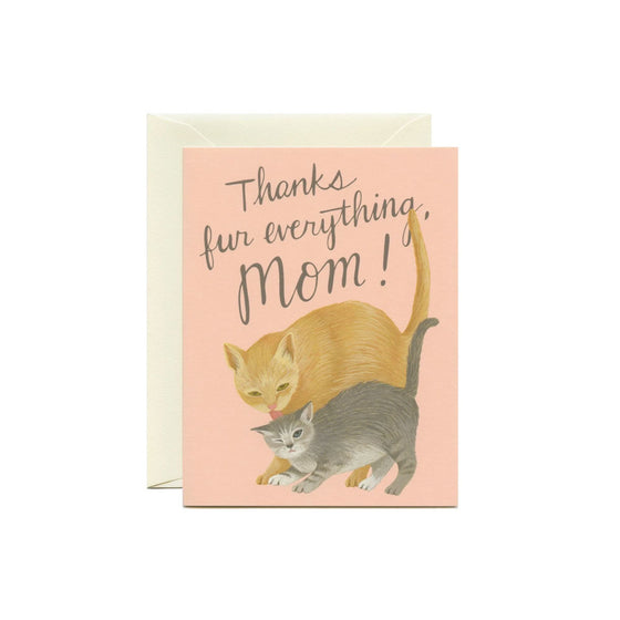 Mama Cat Card Yeppie Paper - Foursided