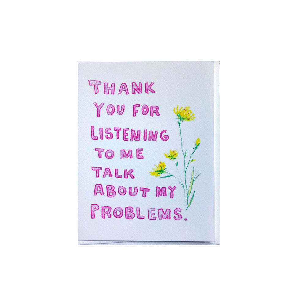 Thank You Problems Card Melanie Jeanne Plank - Foursided