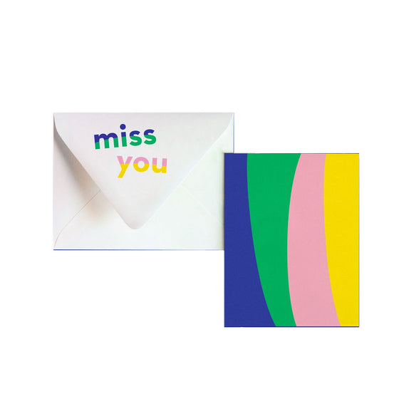 Miss You Notevelope Card My Darlin' - Foursided