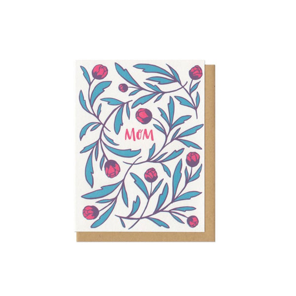 Mom Flowers Card Frog & Toad Press - Foursided
