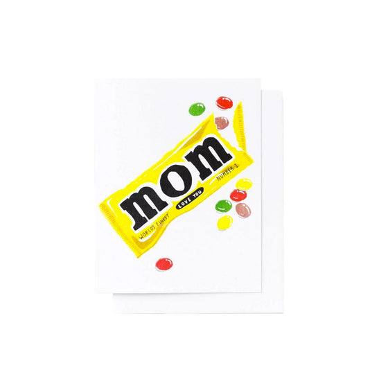 Love You Mom Riso Card Yellow Owl Workshop - Foursided