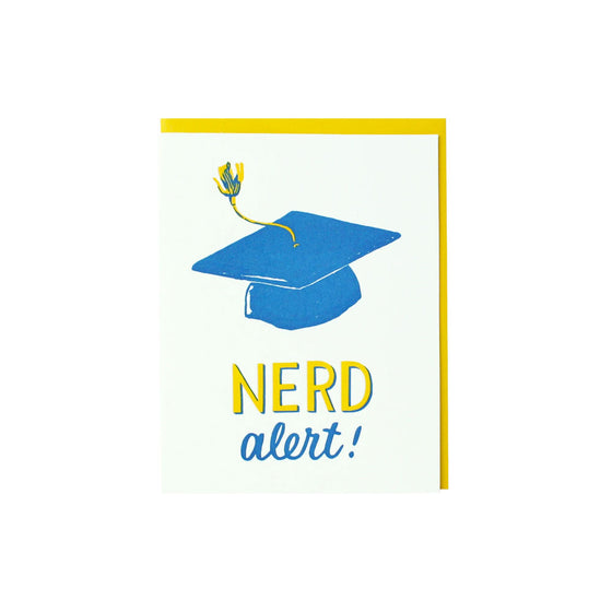 Nerd Graduation Card Smudge Ink - Foursided