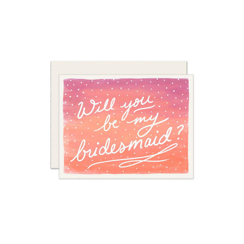 Bridesmaid Ombré Card