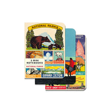 3 Mini National Parks Notebooks