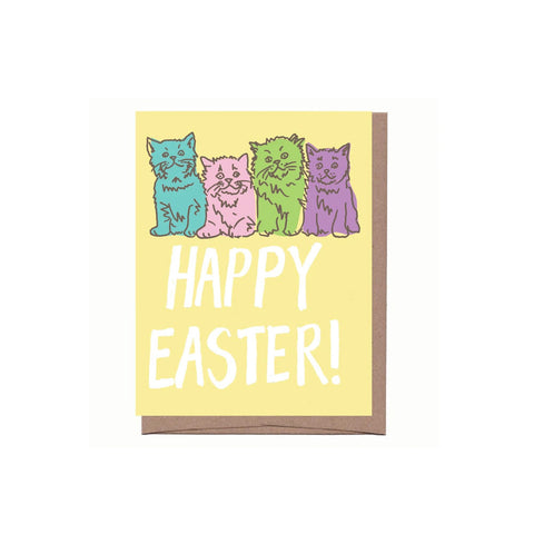Pastel Cats Easter Card