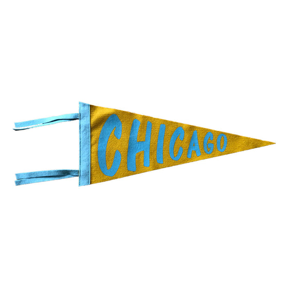 "Felt ""Chicago"" Pennant The Rise and Fall - Foursided"