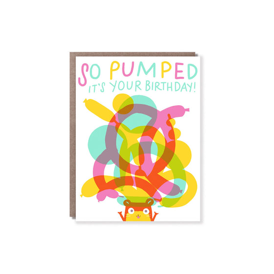 Pumped Birthday Card