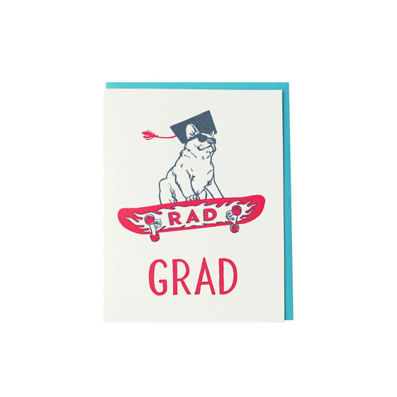 Rad Dog Graduation Card Smudge Ink - Foursided
