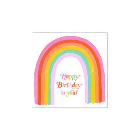 Rainbow Letters Birthday Card