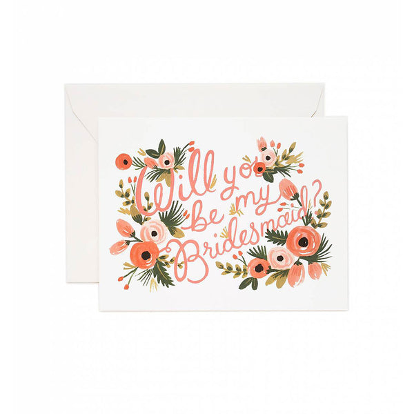 Will You Be My Bridesmaid? Card Set (8 count) Rifle Paper Co. - Foursided