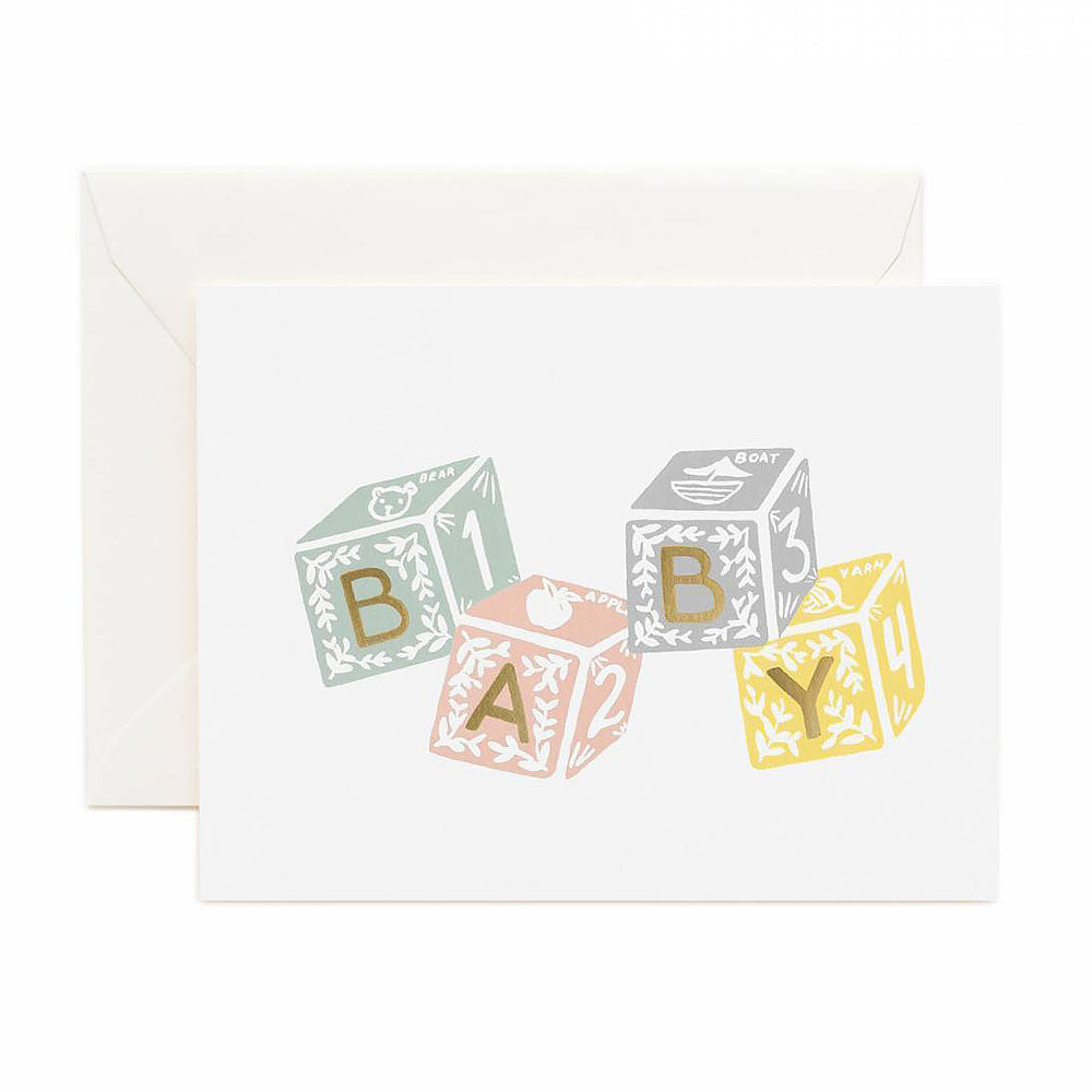 Baby Blocks Card Rifle Paper Co. - Foursided
