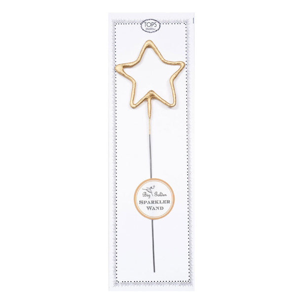 Gold Star Sparkler Wand Tops Malibu - Foursided