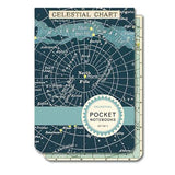 Set of Celestial Pocket Notebooks Cavallini - Foursided