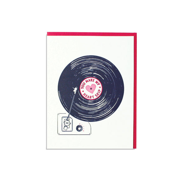 Record Love Card smudge ink - Foursided