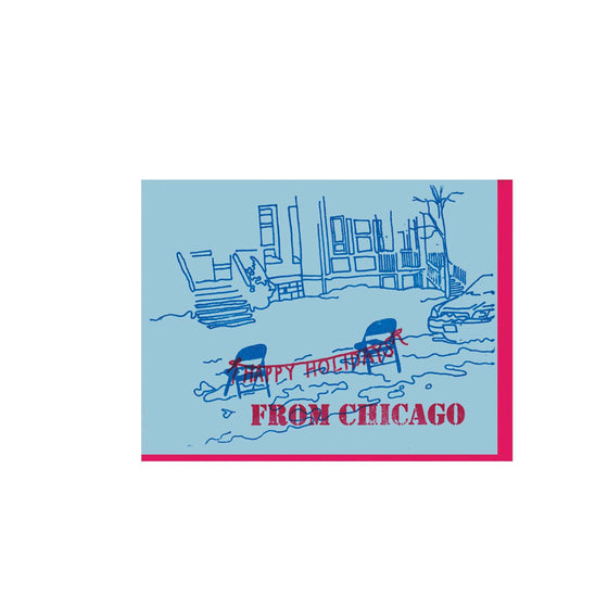 Saved Parking Space Chicago Holiday Card