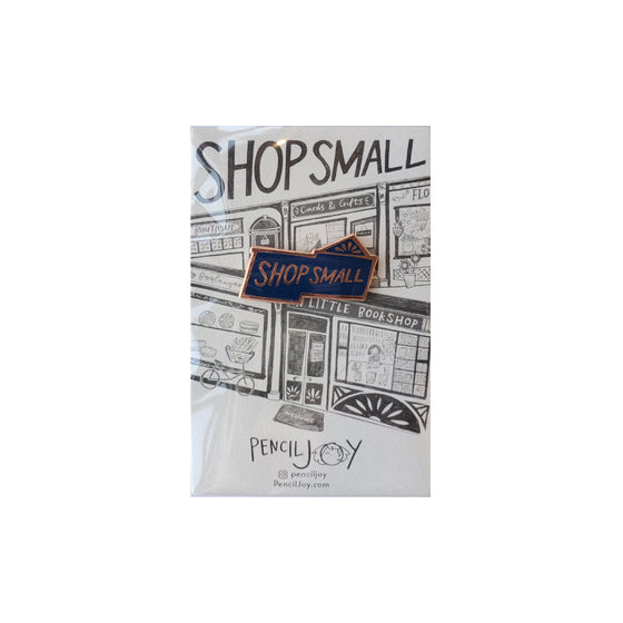 Shop Small Enamel Pin Pencil Joy - Foursided