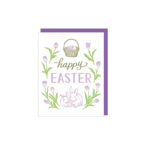 Pastel Bunnies Easter Card