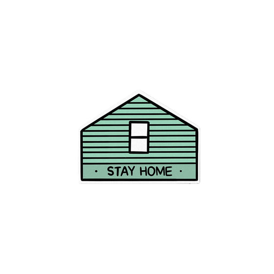 Stay Home Sticker Stay Home Club - Foursided
