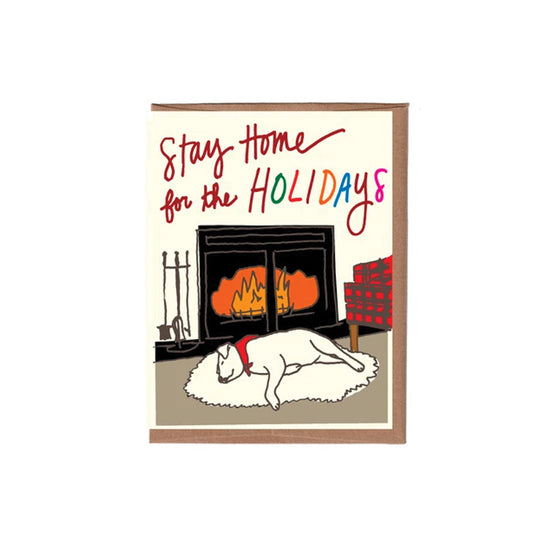 Stay Home for the Holidays Card