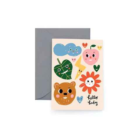 Sunny Faces Baby Card