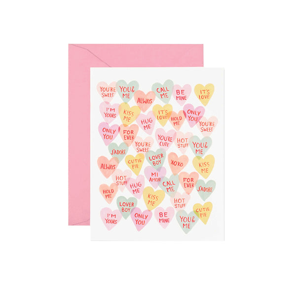 Valentines Sweethearts Card Rifle Paper Co. - Foursided