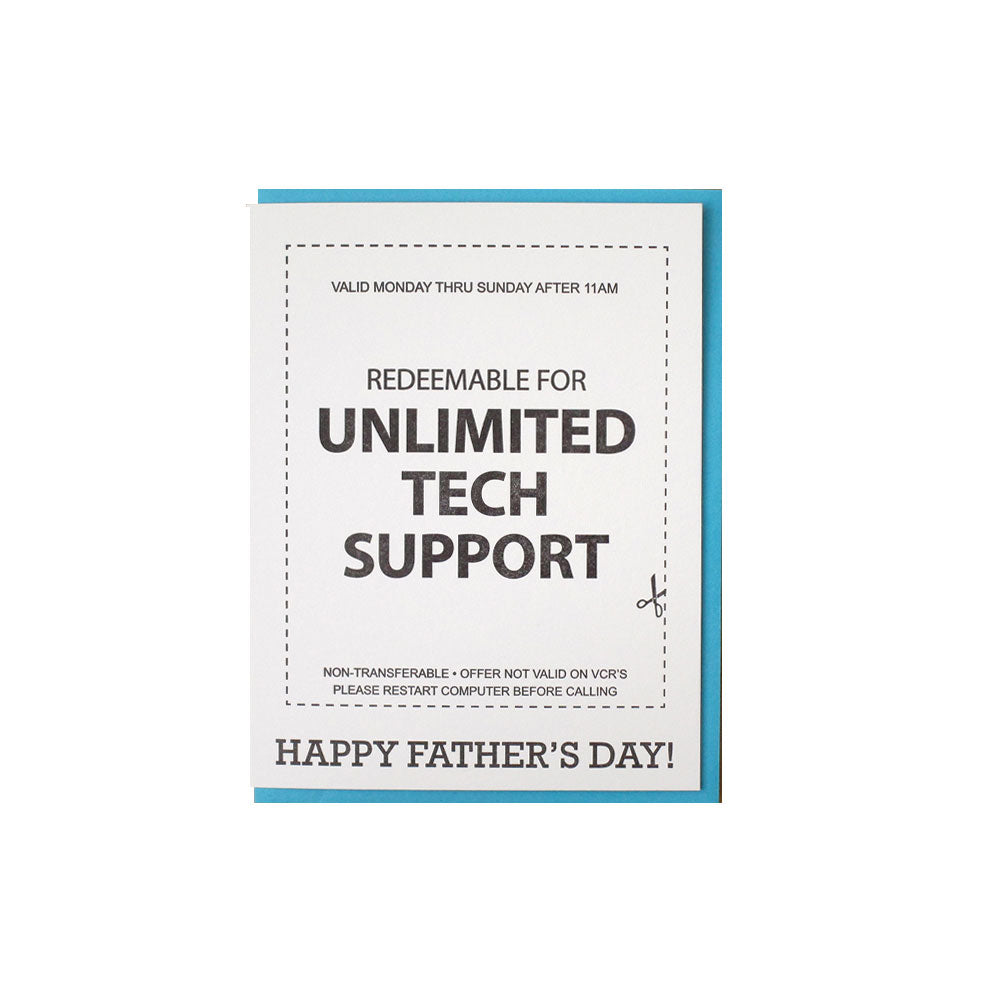 Tech Support Dad Card McBitterson's - Foursided