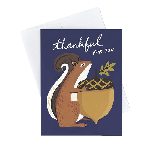 Thankful For You Squirrel Card