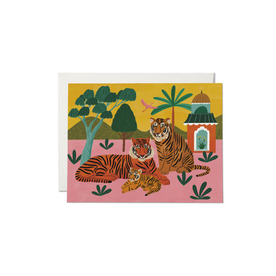 Tiger Family Baby Card