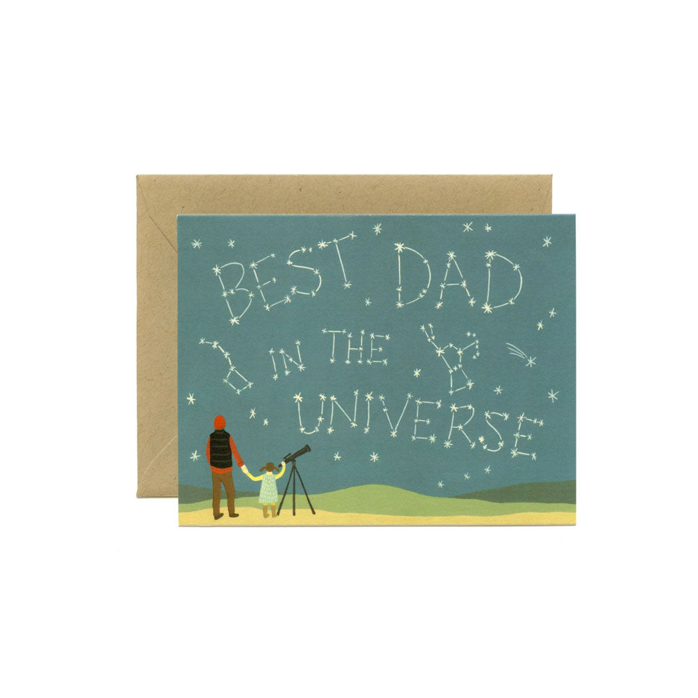 Universe Dad Card Yeppie Paper - Foursided