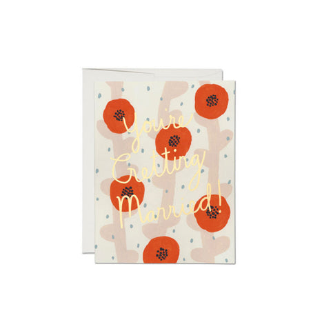 Wedding Poppies Card