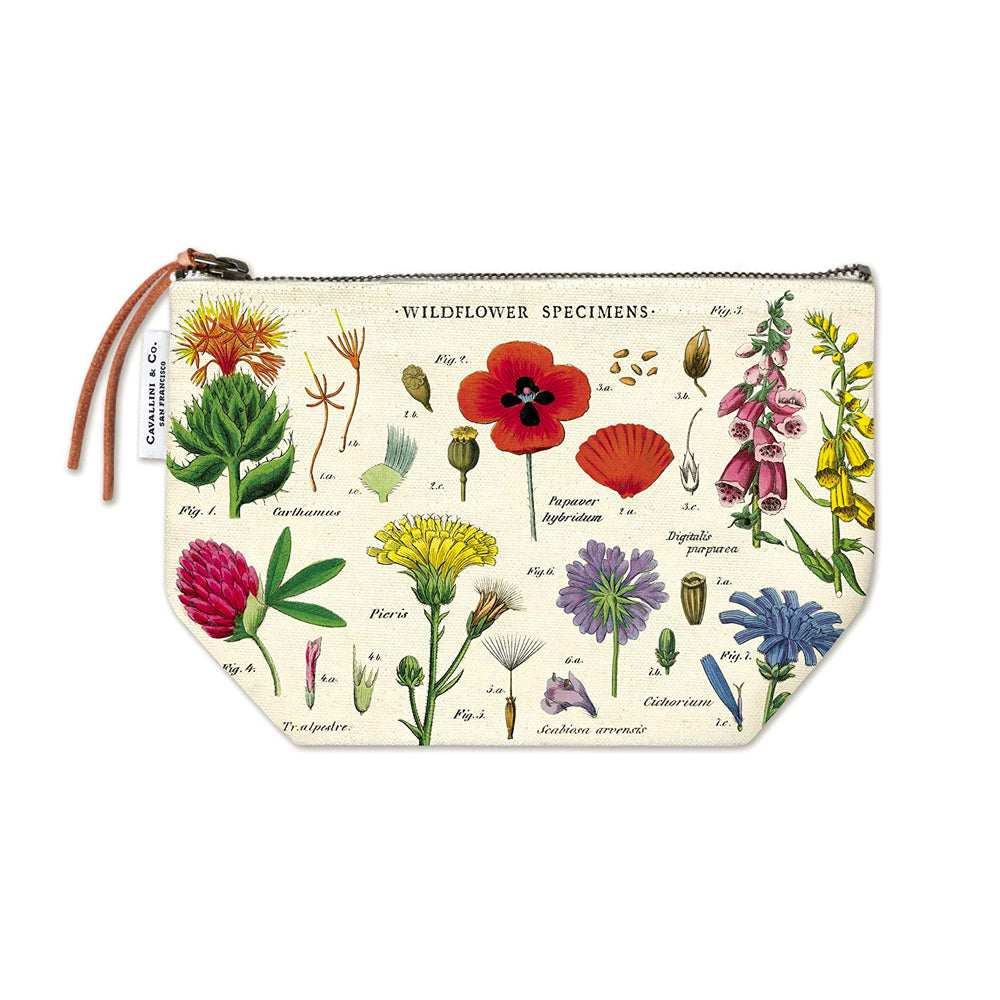 Wildflowers Vintage Pouch Cavallini - Foursided