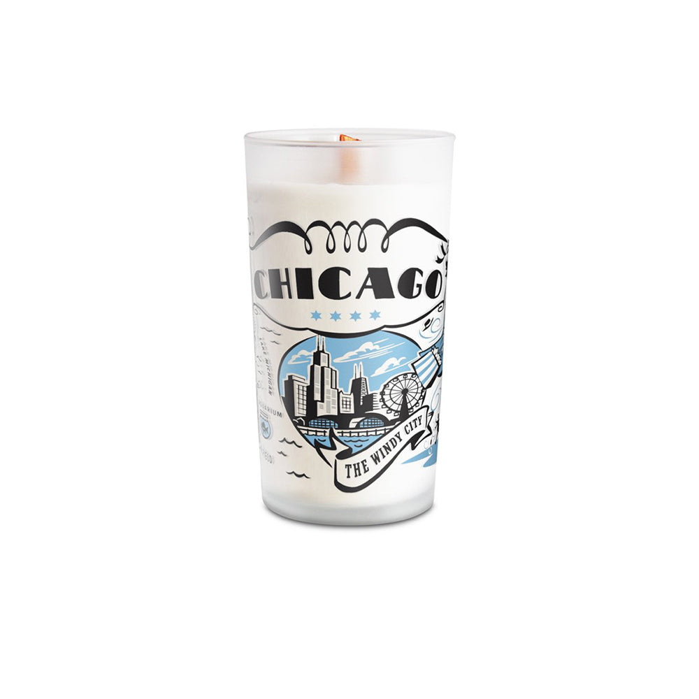 Chicago Frosted Glass Candle Peninsulas - Foursided
