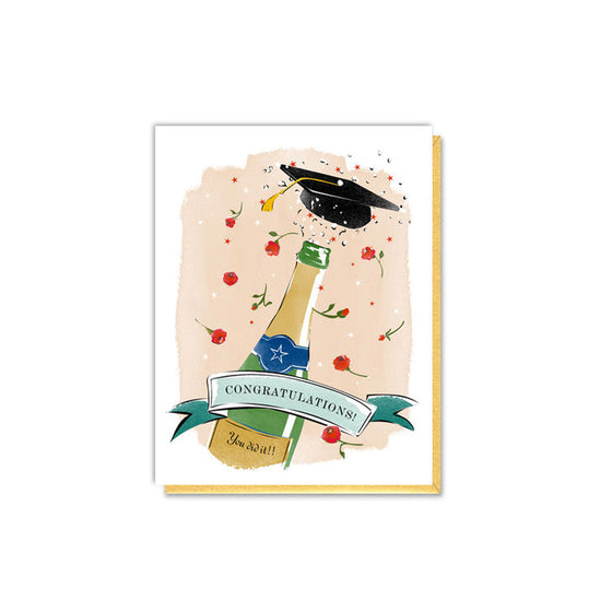 Graduation Champagne Card