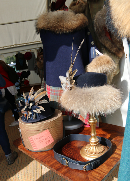 chatsworth country fair 2018 hat stall