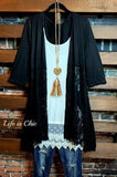 DAYS GONE BY LACE CARDIGAN IN BLACK