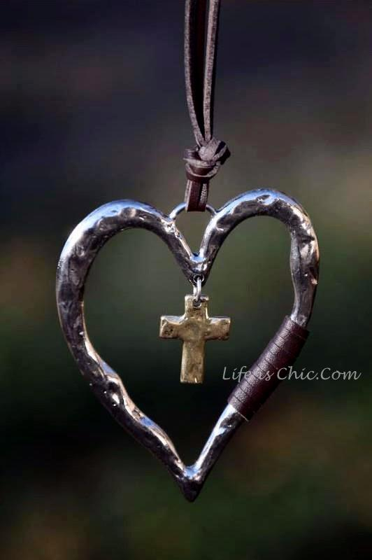 CROSS TO MY HEART RUSTIC SET NECKLACE