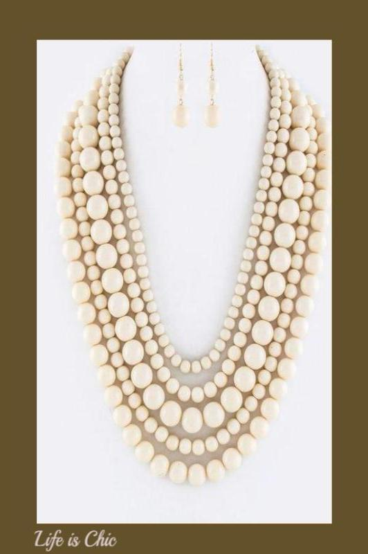 MODERN MUSE NECKLACE IN NATURAL [product vendor] - Life is Chic Boutique