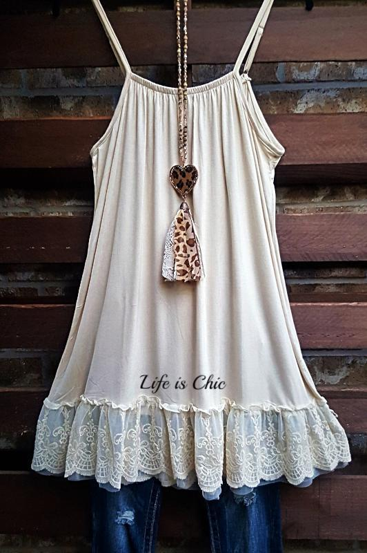 SO THIS IS LOVE LACE SLIP DRESS EXTENDER IN CREAM