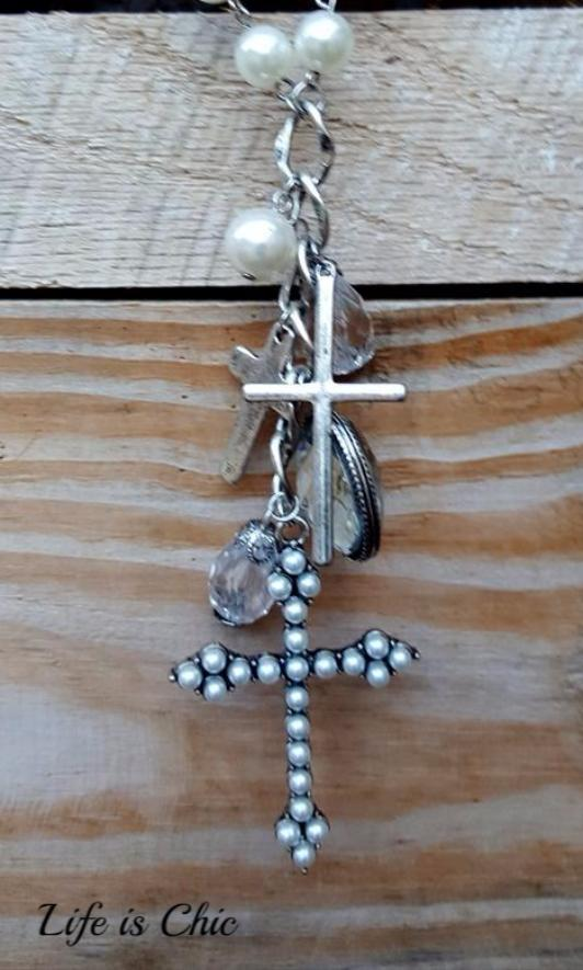 PERFECTLY VICTORIAN INSPIRED CROSS NECKLACE [product vendor] - Life is Chic Boutique