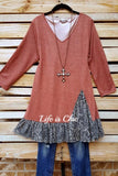 A PERFECT DAY TEE TUNIC IN RUST [product vendor] - Life is Chic Boutique