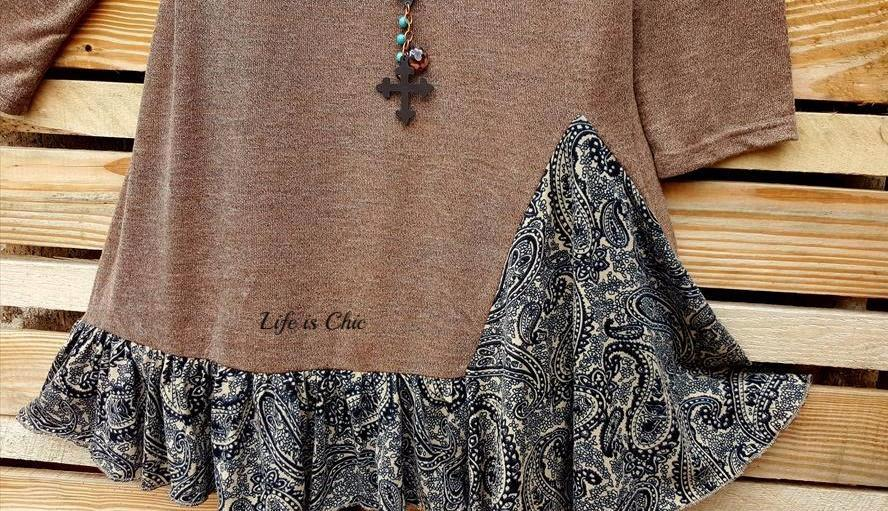 A PERFECT DAY TEE TUNIC IN MOCHA [product vendor] - Life is Chic Boutique