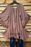 BOHO-HIPPIE FRINGE SWING OVERSIZED DRESS IN MOCHA [product vendor] - Life is Chic Boutique