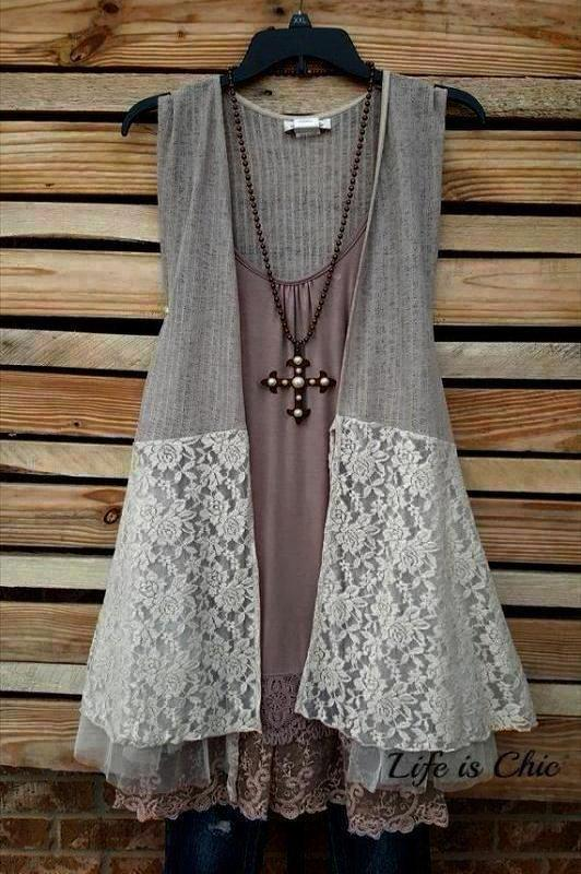 BONJOUR MON AMOUR LACE TULLE VEST - TAUPE [product vendor] - Life is Chic Boutique